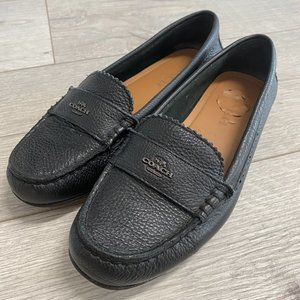 Coach Black Leather Loafer Flats Size 6
